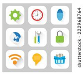 universal icon set | Shutterstock .eps vector #222968764