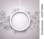 christmas snowflakes background ... | Shutterstock .eps vector #222973666