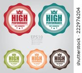 vector   colorful vintage high... | Shutterstock .eps vector #222976204