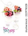 oatmeal with raspberries ... | Shutterstock . vector #222978328