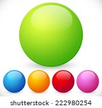 colorful  shiny spheres | Shutterstock .eps vector #222980254