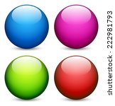 colorful  shiny spheres | Shutterstock .eps vector #222981793