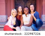 group of multiracial female... | Shutterstock . vector #222987226