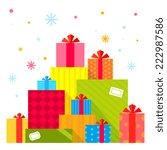 vector christmas illustration... | Shutterstock .eps vector #222987586