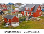 The grey skies and colorful housing of Nuuk, capital city of Greenland