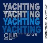 yachting vector typography  t... | Shutterstock .eps vector #222994669