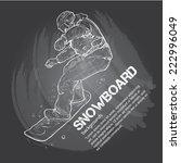 snowboard background design   Shutterstock .eps vector #222996049