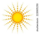 vector clip art of sun with... | Shutterstock .eps vector #223005250