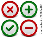 cross  x   checkmark   plus ... | Shutterstock .eps vector #223006108