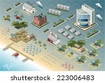 isometric building city palace... | Shutterstock .eps vector #223006483