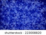 blue christmas background | Shutterstock . vector #223008820