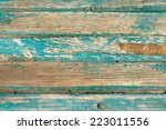 old wooden bench background | Shutterstock . vector #223011556