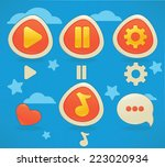 interface game design  icons... | Shutterstock .eps vector #223020934