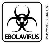 ebola virus icon on white... | Shutterstock .eps vector #223021153