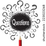 question marks designs... | Shutterstock .eps vector #223023268