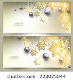 set of elegant christmas... | Shutterstock .eps vector #223025044