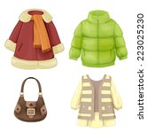 set of seasonal clothes for... | Shutterstock . vector #223025230