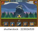 the user interface for the game ... | Shutterstock .eps vector #223026520