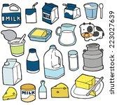 vector set of milk product | Shutterstock .eps vector #223027639