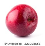 fresh red apple isolated on... | Shutterstock . vector #223028668