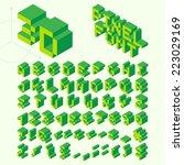 green isometric pixel font ...   Shutterstock .eps vector #223029169