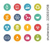 science icons    fresh colors... | Shutterstock .eps vector #223031938