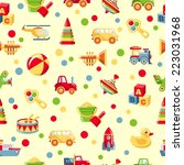 seamless colorful pattern with... | Shutterstock .eps vector #223031968