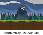 forest and fortress. vector...