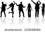 dancing silhouette | Shutterstock .eps vector #223038460
