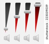 vertical volume controls.  set...
