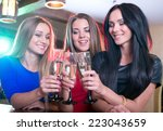 party  celebration  friends ... | Shutterstock . vector #223043659
