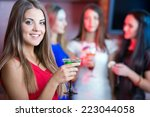 party  celebration  friends ... | Shutterstock . vector #223044058