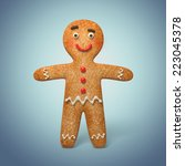 traditional gingerbread man... | Shutterstock . vector #223045378