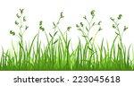 financial growth fresh grass... | Shutterstock .eps vector #223045618