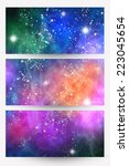 Three Abstract Space Banners