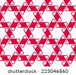 seamless pattern with hearts.... | Shutterstock .eps vector #223046860