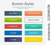 buttons styles | Shutterstock .eps vector #223048108