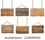collection of  various wooden... | Shutterstock . vector #223049020