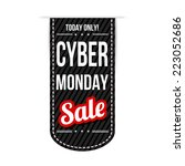 cyber monday banner design over ... | Shutterstock .eps vector #223052686