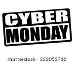 cyber monday grunge rubber... | Shutterstock .eps vector #223052710