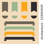 a vector set of vintage style... | Shutterstock .eps vector #223054039