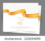 vector illustration of wedding... | Shutterstock .eps vector #223054090