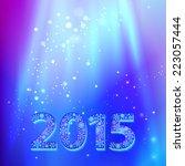 happy new year 2015 creative... | Shutterstock .eps vector #223057444
