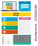 flat web user interface set