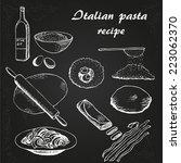 italian pasta  recipe vector...   Shutterstock .eps vector #223062370
