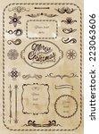 set 2  of vintage design...   Shutterstock .eps vector #223063606
