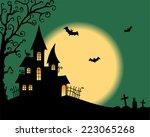 halloween vector card | Shutterstock .eps vector #223065268