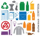 Vector Solid Colors Recycling...