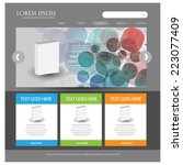 web design template. vector | Shutterstock .eps vector #223077409