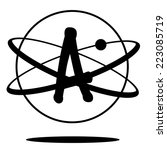 atheism symbol eps 10 vector | Shutterstock .eps vector #223085719